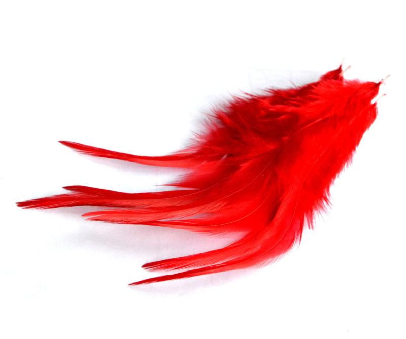 Kohoutí peří červené