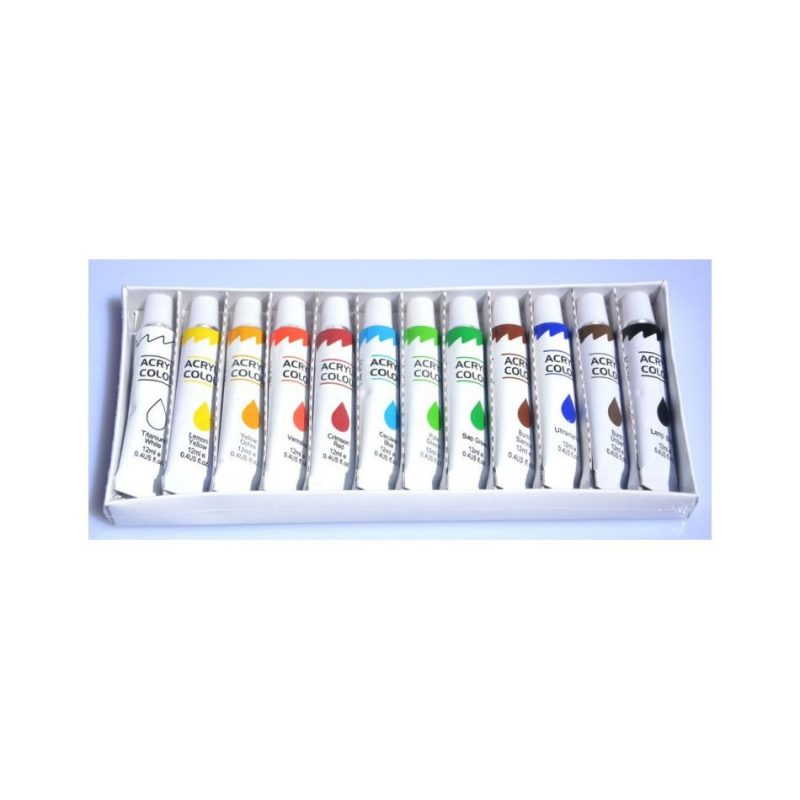 akrylové barvy 12 x 12
