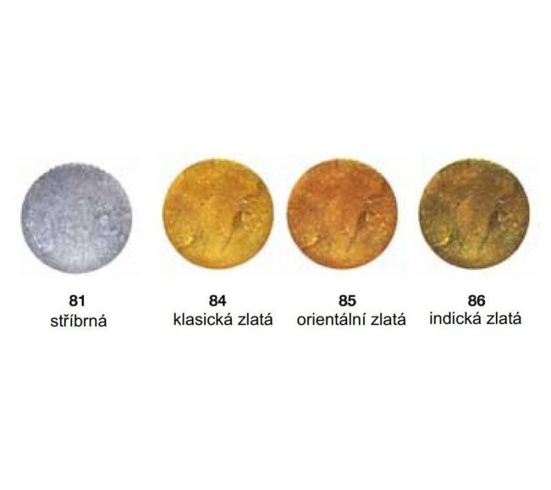 kovové barvy na mýdlo